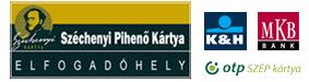 Apartmanunk OTP, K&H és MKB szép kártya elfogadóhely